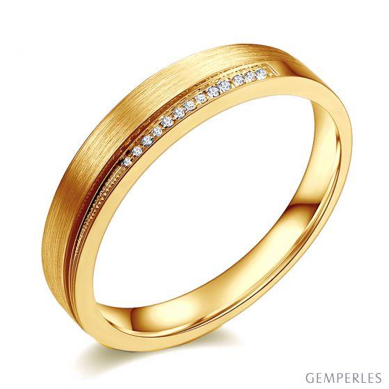Alliance Femme, Une pointe d'amour. Or et diamants