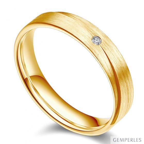 Alliance Homme. Sillage amoureux. Or jaune et diamant