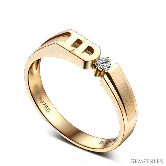 Alliance I DO - Alliance Femme Or jaune - Diamant