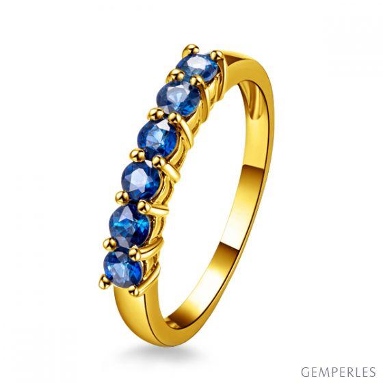 Bague saphir - Sophistiquée et Glamour - Or jaune
