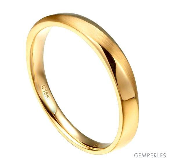 Alliance moderne Homme en Or jaune et Diamant
