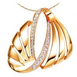 Pendentif écailles or jaune issu des flots envoutants - Diamants