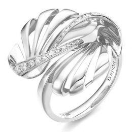Bague originale or blanc 750/1000 - Diamants 0.192ct