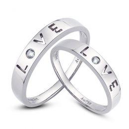 Alliances Love - Alliances Duo d'or blanc - Diamants