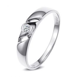 Bijoutier alliance de fiançaille - Alliance Femme diamant - Or blanc