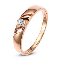 Bijoutier alliance de fiançaille - Alliance Femme diamant - Or rose