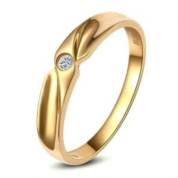Alliance originale or jaune - Alliance Homme - Diamant