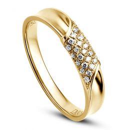 Alliance Femme. Or jaune. Diamants 0.105ct