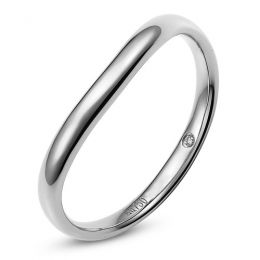 Alliance Homme. Platine. Diamant 0.011ct