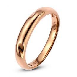 Alliance en or ronde - Alliance Homme Or rose - Diamant
