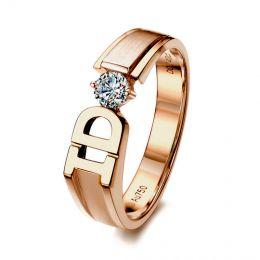 Alliance I DO - Alliance homme Or rose - Diamant