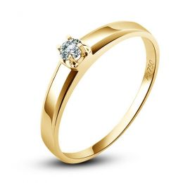 Alliance mariage originale - Alliance Homme - Or jaune - Diamant