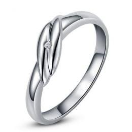 Bijou alliance mariage - Alliance Femme - Or blanc - Diamant