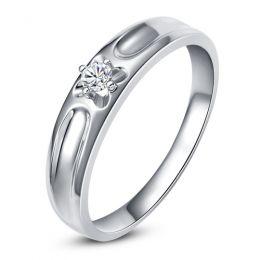 Alliance fleur d'or blanc et diamant - Alliance Femme