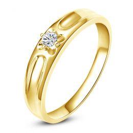 Alliance fleur d'or jaune et diamant - Alliance Homme