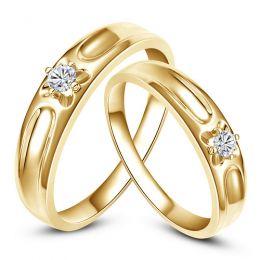 Alliances fleurs d'or jaune et diamants - Alliances Duo