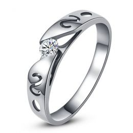 Mon alliance de mariage - Alliance originale or blanc, diamant - Femme