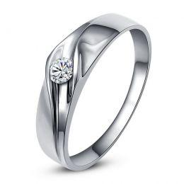 Alliance de fiançaille - Alliance or blanc pour Homme - Diamant