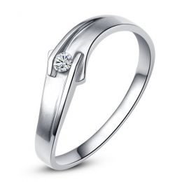 Alliance diamant or blanc - Alliance Femme