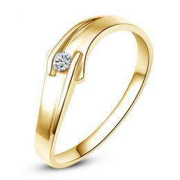 Alliance diamant or jaune - Alliance Femme