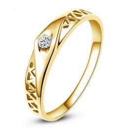 Alliance contemporaine -  Alliance Homme Or jaune - Diamant