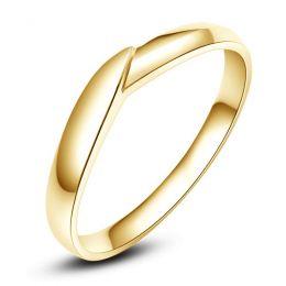 Bague fiançaille Homme - Or jaune - Diamant 0.006ct