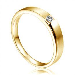 Alliance de fiançaille 2012 - Alliance pour Homme - Or jaune, diamant