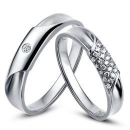 Duo d'alliances prestige - Or blanc, diamants
