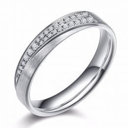 Alliance sillage amoureux femme. Or blanc, diamants