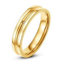 Bague alliance Femme - Anneau diamant or jaune