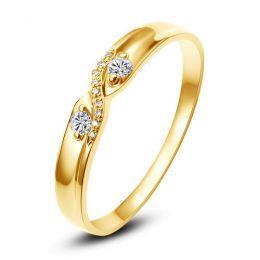 Alliance mariage diamants - En or jaune - Pour Homme