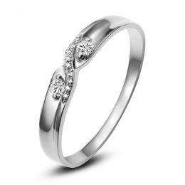 Alliance mariage diamants - En or blanc - Pour Femme