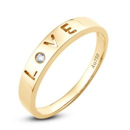 Alliance Love - Alliance femme or jaune - Diamant