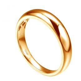 Alliance bombée Or jaune 18 carats Messieurs. 1 diamant 0.010ct