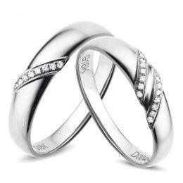 Alliances Or Blanc - Diamants