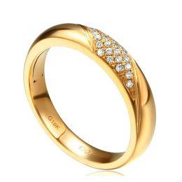 Alliance femme constellation - Or jaune - Diamants