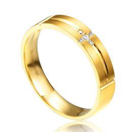 Alliance Homme - Or jaune 18 carats brossé et mate