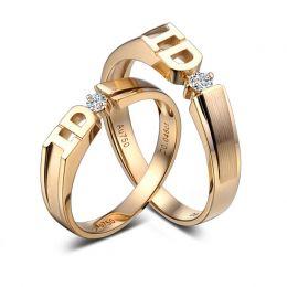 Alliances I DO - Alliances duo d'Or jaune et diamants