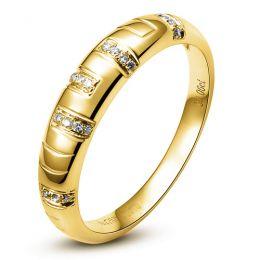 Bague homme - Or jaune 18 carats et Diamants