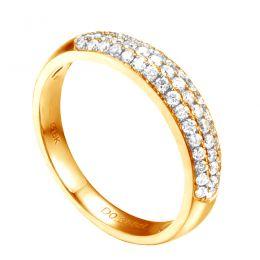 Alliance bombée Or jaune 18 carats. 49 diamants 0.388ct