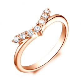 Bague Or rose Diamants Freedom. Ailes de Colombe