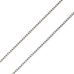 Chaîne vénitienne. Or blanc 45cm