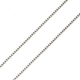 Chaîne vénitienne. Or blanc 40cm