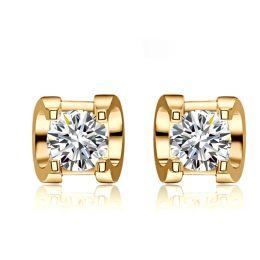 Puces diamants griffes taille brillant 0.20 carat. Personnalisables