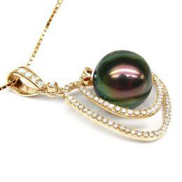Pendentif trésor des océans - Perle de Tahiti - Or jaune, diamants