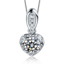 Pendentif nature or blanc fendu - Création joaillière diamants
