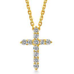 Pendentif religieux forme croix Or jaune, Diamants