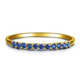 Anneau Or jaune 18 carats - Saphir