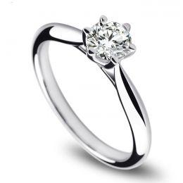 Solitaire or blanc, diamant 0.25ct - L'Amour - Adélaïde DUFRÉNOY