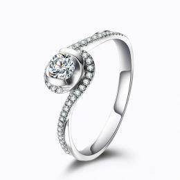 Bague solitaire diamants en or blanc - Je t'appartiens